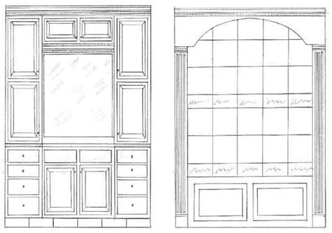 Cabinet Drawing by How To Build Cabinet Drawings Pdf Plans