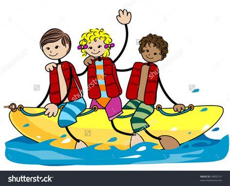 banana boat ride cartoon boat trip clipart clipground