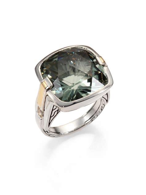hardy green amethyst sterling silver ring in silver