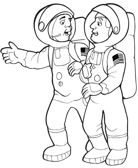 Astronaut Coloring Page Astronaut Color Sheet Printables Pics About Space by Astronaut Coloring Page