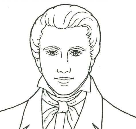 lds coloring pages joseph smith printable joseph smith coloring page coloringpagebook com
