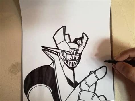 imagenes de mazinger z para dibujar faciles como dibujar a mazinger z how to draw mazinger z youtube