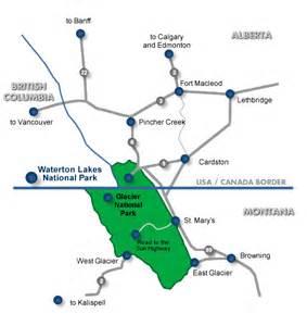 waterton maps location waterton lakes accommodations