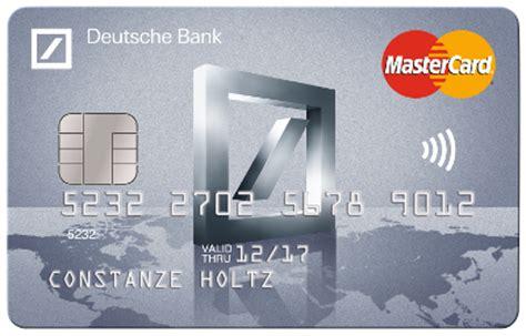 deutsche bank kreditkarte visa kosten deutsche bank mastercard travel kreditkarte im check