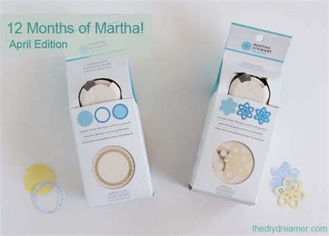 Martha Stewart Paper Crafts - 12 months of martha april supplies the d i y dreamer