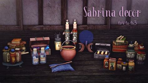 sabrina witch decor conversion  silver owl liquid sims