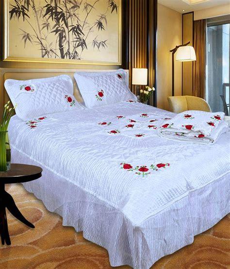 white satin comforter set ooltah chashma white satin bedding set set of 4 buy