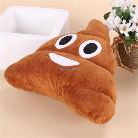 mini emoji emoticon cushion poo shape pillow doll