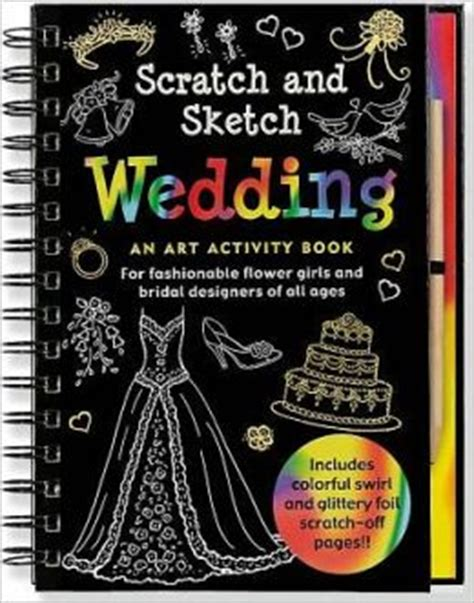 sketch and scratch book scratch sketch wedding by pauper press