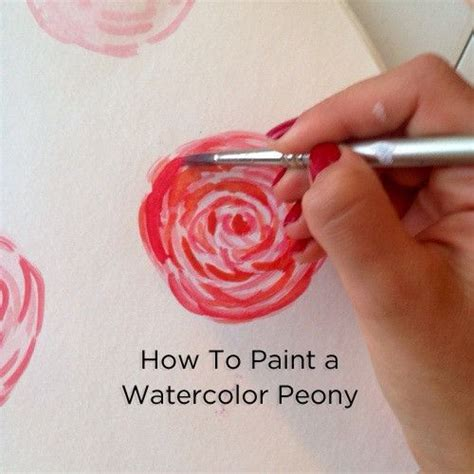 watercolor tattoo tutorial best 25 watercolor peony ideas on simple