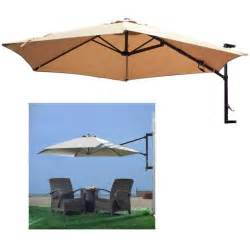 Wall Mounted Patio Umbrella 10 Outdoor Umbrella Wall Mount Offset Patio Garden Sun Canopy Crank Ebay