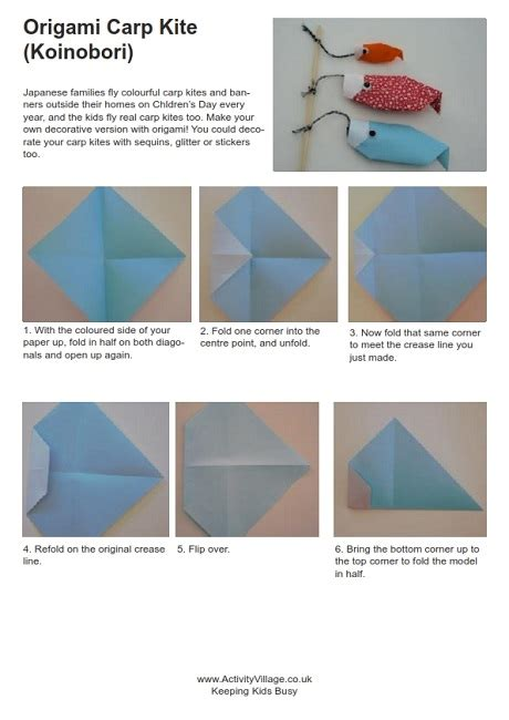 How To Make An Origami Kite - origami carp kite