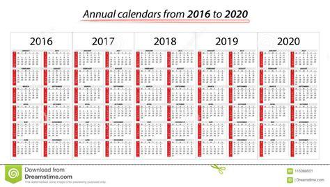 annual planner calendar     stock vector illustration  business company