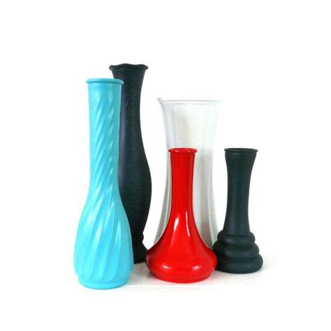 Upcycled Vases by Upcycled Vases Vintage Vases Navy Blue White