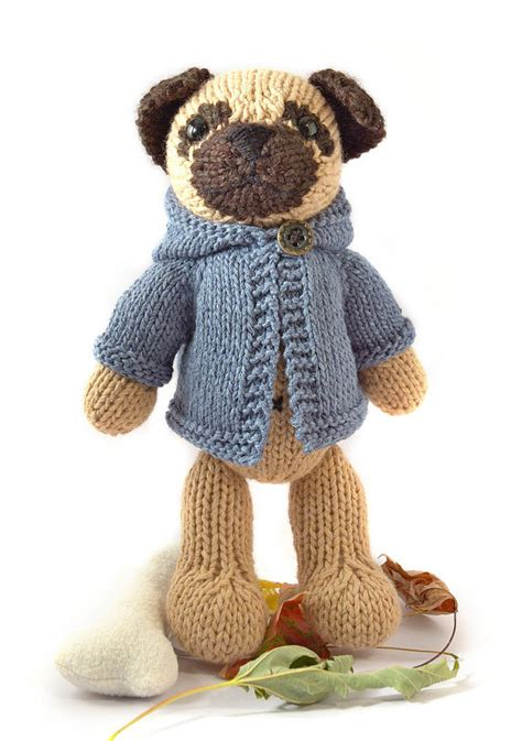 pug knitting pattern pug with anorak knitting pattern