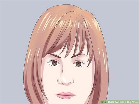 hair for straight hair a big nose 4 ways to hide a big nose wikihow