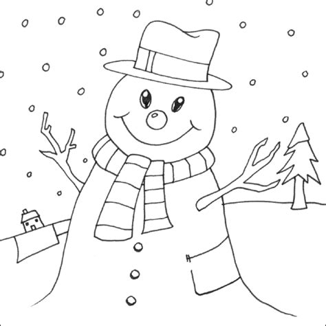 Snowman Coloring Pages Coloring Pages To Print Printable Snowman Coloring Pages