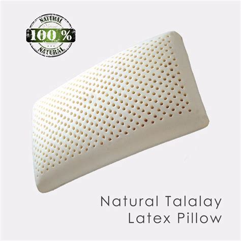 Talalay Foam Pillow by Talalay Pillow With Velour Cotton Cover