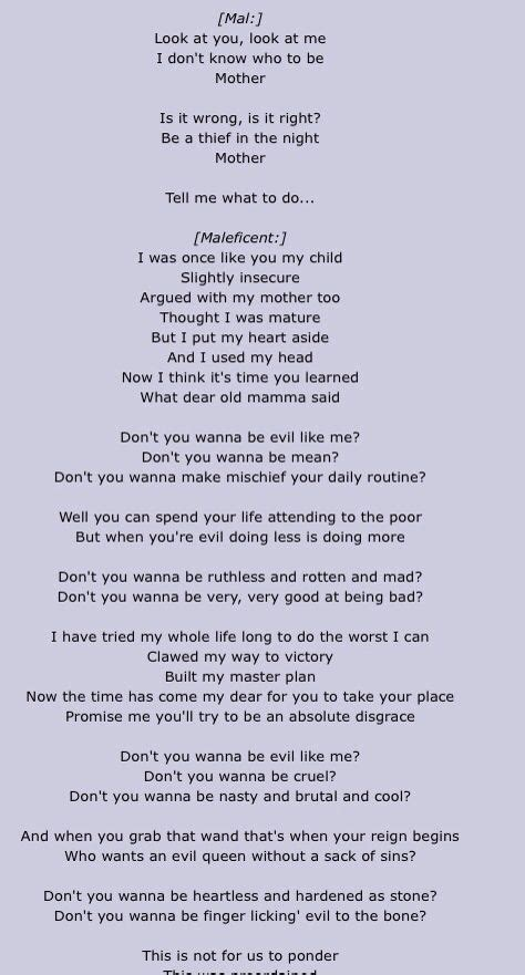 printable lyrics to rotten to the core 37 best images about descendants on pinterest