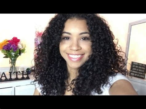 my hair under top layer is wacy layering curly hair subtle layers youtube