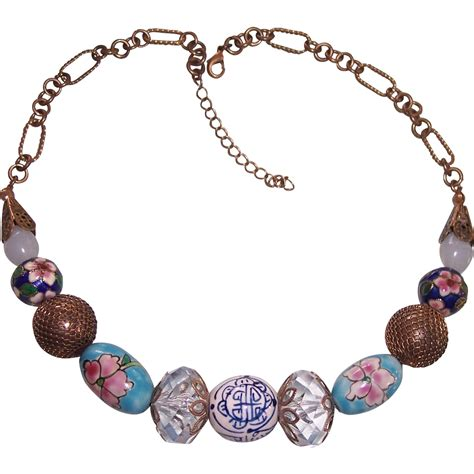 chunky bead necklaces chunky chinoiserie bead necklace asian theme modseller