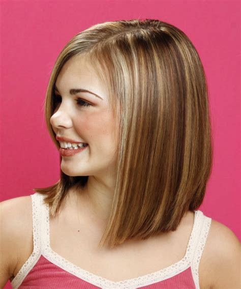 short haircuts for women with the part down the middle long straight formal hairstyle medium brunette chestnut