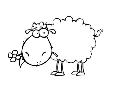 clipart de ovejas para colorear imagui dibujo de oveja con flor para colorear dibujos net