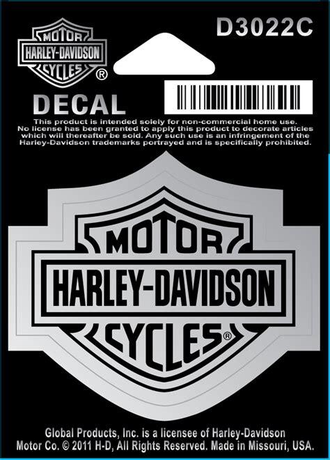 Harley Schriftzug Aufkleber by Harley Davidson Aufkleber Bar Shield Chrom Klein Im