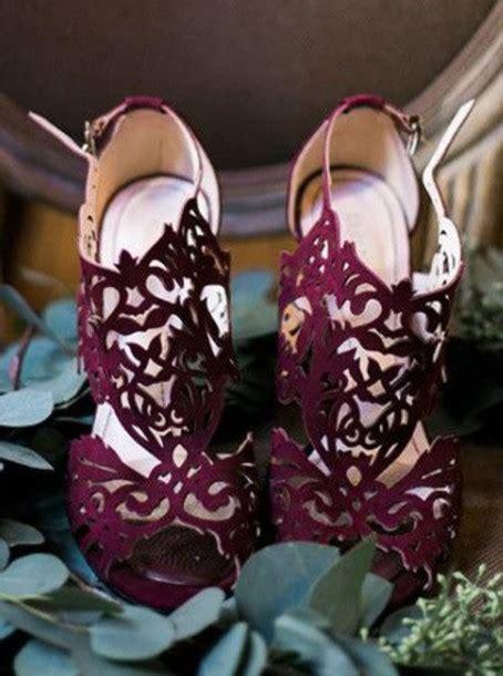 Burgundy Wedding Shoes shoes burgundy laser cut wedding shoes wheretoget