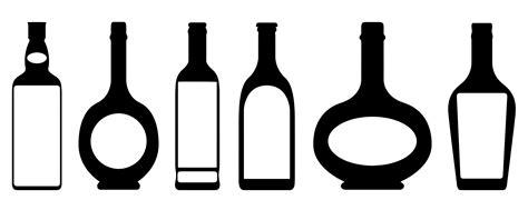black and white chagne bottle clipart liquor bottle black and white clipart clipart suggest