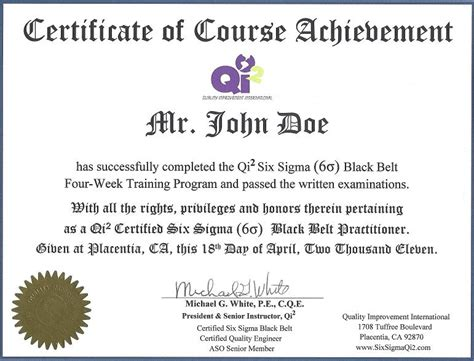 six sigma black belt certificate template image gallery certificates