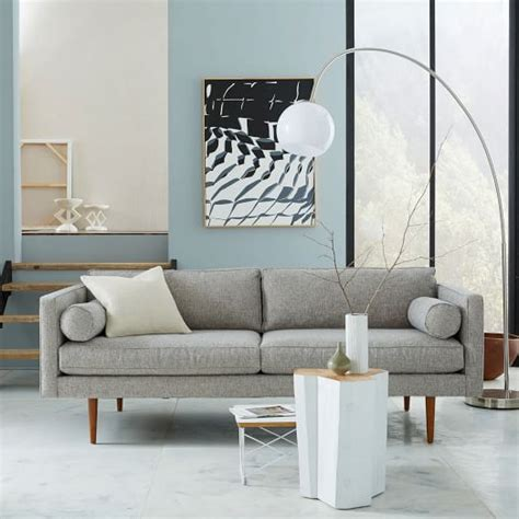 west elm monroe sofa review monroe mid century sofa 80 quot west elm