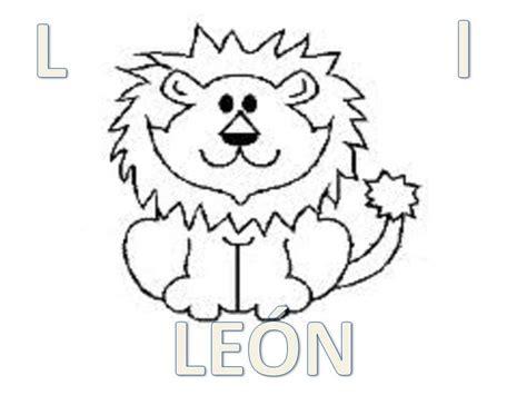 dibujos para colorear de leones actividades infantiles y abecedario animal para colorear