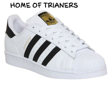 Sepatu Adidas Superstar Hight White Lis Black Size 39 43 Grade Ori adidas gs white black gold boys