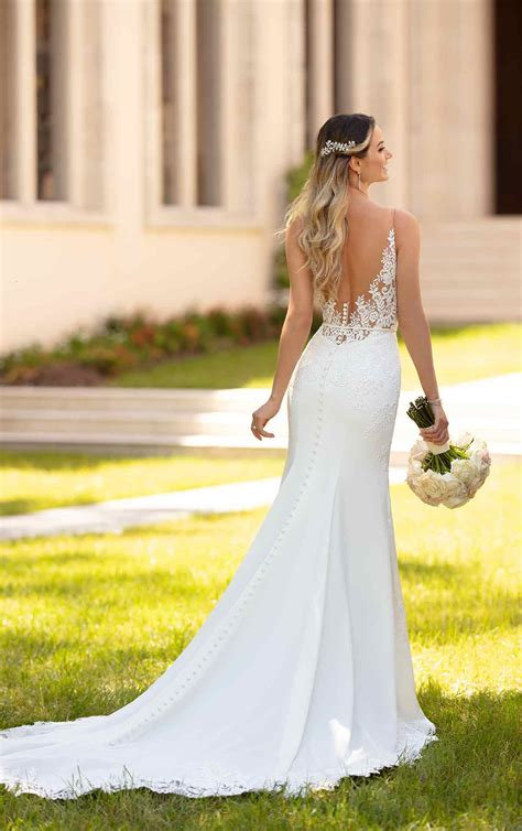 simple and sleek wedding gown stella york wedding gowns