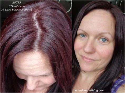 chocolate cherry and deep burgundy bown color pont tials extensions l39oreal feria 41 crushed garnet of loreal garnet hair