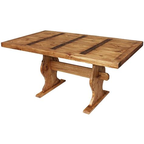 trestle table plans rustic pine collection trestle dining table mes01