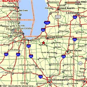 Map Of Indiana And Michigan by Saylor S End Of The Trail Riding Stable Koontz Lake In