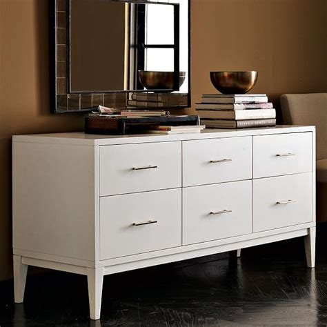 modern bedroom dressers and chests narrow leg 6 drawer dresser modern by west elm