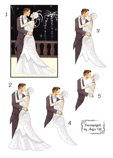 Wedding Decoupage - photo decocouple white decoupagedbyangie jpg