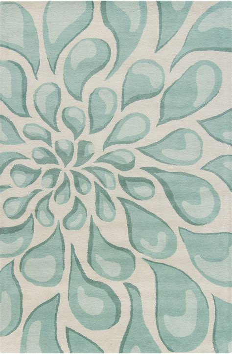 Light Aqua Area Rug by Stella Collection Tufted Area Rug In Beige Light
