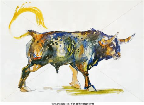 imagenes toros abstractos toro azul en la naturaleza ii anna nelubova artelista com