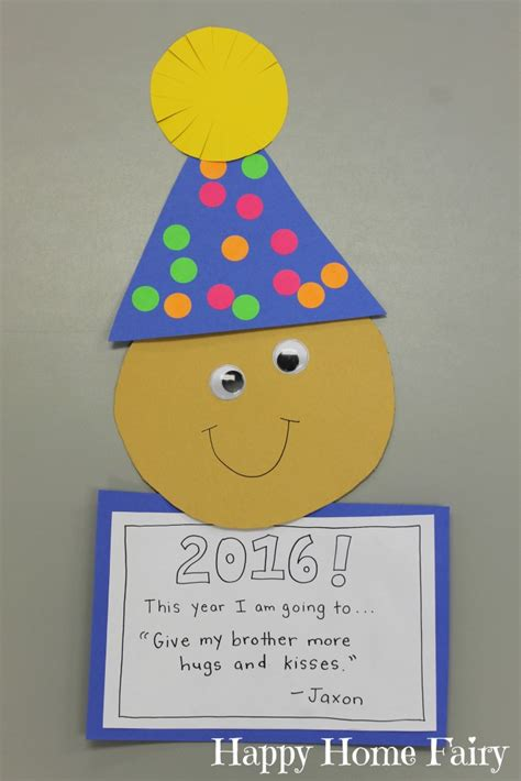 Paper Crafts For New Year - easy new year s craft for preschoolers happy home