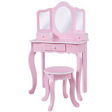 Roundhill Furniture Moniya White Wood Vanity Table And Stool Set by Vanity Table And Stool Set Atcsagacity
