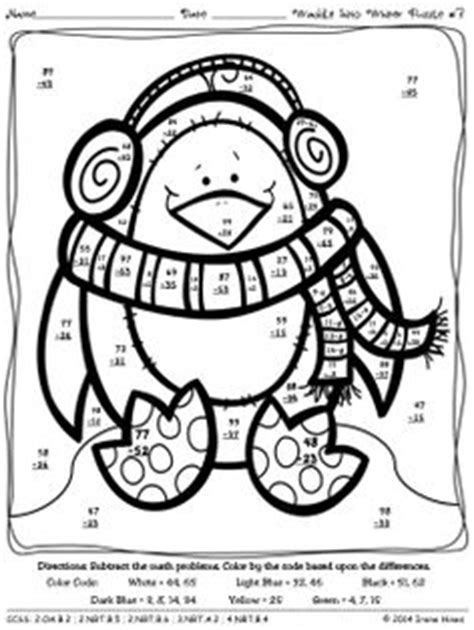penguin addition coloring page waddle into winter penguin math printables color by the