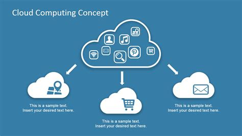 Cloud Computing Concept Design For Powerpoint Slidemodel Cloud Template For Powerpoint