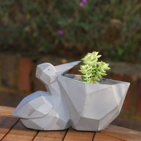 Pelican Planter by Pelican Geometric Planter With A Plant By Dingading Terrariums Notonthehighstreet