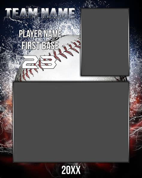 baseball memory mate photo template splash series