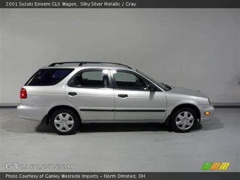silky silver metallic 2001 suzuki esteem glx wagon
