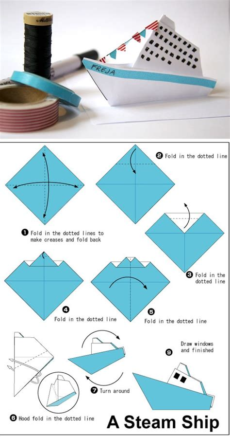 How To Make Ship In Paper - best 25 origami boat ideas that you will like on